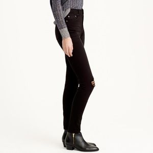 J. Crew Lookout High-rise Distressed Skinny Jeans